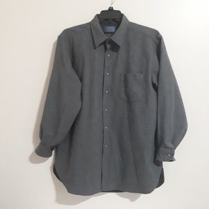 Vtg Pendleton Grey Virgin Wool Buttonup Shirt